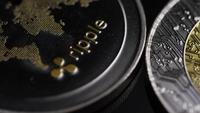 Roterande skott av Bitcoins (Digital Cryptocurrency) - BITCOIN RIPPLE 0171