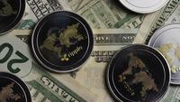 Roterande skott av Bitcoins (Digital Cryptocurrency) - BITCOIN RIPPLE 0262