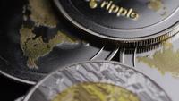 Plan tournant de Bitcoins (crypto-monnaie numérique) - BITCOIN RIPPLE 0192