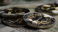 Disparo giratorio de Bitcoins (criptomoneda digital) - BITCOIN RIPPLE 0253