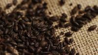 Roterend schot van gerst en andere ingrediënten voor het brouwen van bier - BIERENWORTELEN 202