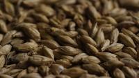 Plan tournant de l'orge et d'autres ingrédients brassicoles - Bière Brewing 123