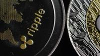Roterande skott av Bitcoins (Digital Cryptocurrency) - BITCOIN RIPPLE 0165