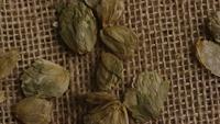Plan tournant de l'orge et d'autres ingrédients brassicoles - Bière Brewing 254
