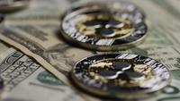 Plan tournant de Bitcoins (crypto-monnaie numérique) - BITCOIN RIPPLE 0254