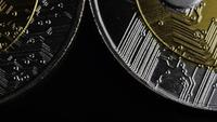 Plan tournant de Bitcoins (crypto-monnaie numérique) - BITCOIN RIPPLE 0087