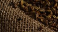 Roterend schot van gerst en andere ingrediënten voor het brouwen van bier - BIEREN BROUWEN 235