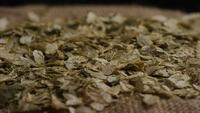 Rotating shot of barley and other beer brewing ingredients - BEER BREWING 304