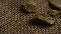 Plan tournant de l'orge et d'autres ingrédients brassicoles - Bière Brewing 267