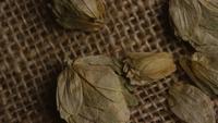 Plan tournant de l'orge et d'autres ingrédients brassicoles - Bière Brewing 255