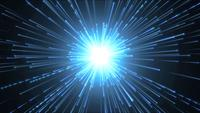 Hyperspace Background With Shining Starburst