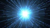 Hyperspace achtergrond met glanzende starburst