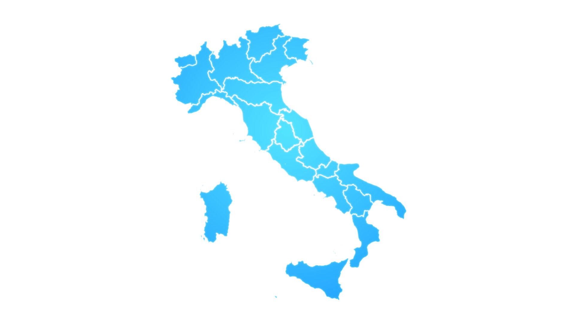 Karta Italien Regioner.Italiensk Karta Visar Upp Intro Med Nya Regioner Gratis Hd