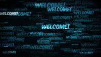 Mensaje de bienvenida de fondo Loop