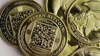Roterande skott av Titan Bitcoins (Digital Cryptocurrency) - BITCOIN TITAN 123