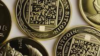 Tiro giratorio de Titan Bitcoins (criptomoneda digital) - BITCOIN TITAN 047