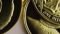 Rotationsskott av Titan Bitcoins (Digital Cryptocurrency) - BITCOIN TITAN 090