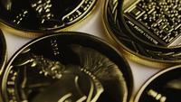 Roterande skott av Titan Bitcoins (digital kryptokurrency) - BITCOIN TITAN 063
