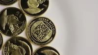 Tiro giratorio de Titan Bitcoins (criptomoneda digital) - BITCOIN TITAN 043