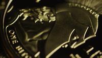 Rotationsskott av Titan Bitcoins (Digital Cryptocurrency) - BITCOIN TITAN 104
