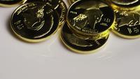Rotationsskott av Titan Bitcoins (Digital Cryptocurrency) - BITCOIN TITAN 098