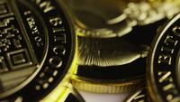 Rotating shot of Titan Bitcoins (digital cryptocurrency) - BITCOIN TITAN 140