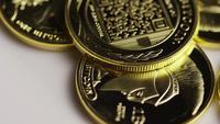 Rotating shot of Titan Bitcoins (digital cryptocurrency) - BITCOIN TITAN 138