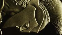 Rotating shot of Titan Bitcoins (digital cryptocurrency) - BITCOIN TITAN 051