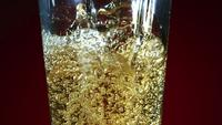 Golden colored beer pouring in ultra slow motion (1,500 fps) - CHICKEN WINGS PHANTOM 011