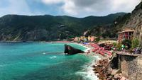 Beach of Monterosso al Mare in 4K