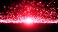 Boucle d'écoulement de particule légère abstraite