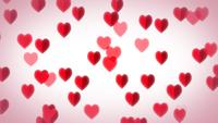 Hearts Flying Background For Valentine's Day