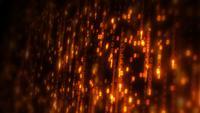 Boucle de chute de données de code binaire informatique