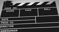 Action Film Clapper Board Background