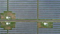 Aerial view of Solar cell Farm