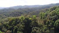 Traversée aérienne de belles montagnes en Thaïlande