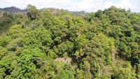 Traversée aérienne de belles montagnes au nord de la Thaïlande