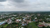 Flygfoto landsbygden i Thailand.