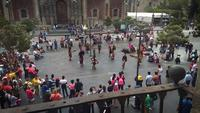 Aztec Dancers In The Zocalo Main Square Of Mexico City