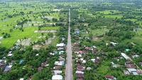 Campo da vista aérea de Tailândia.