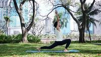 Yogasport en Gezond levensstijlconcept.