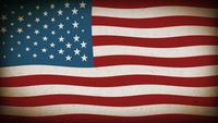 American Flag Textured Background Loop