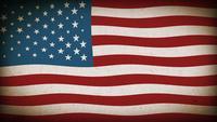 American Flag Textured Background Loop