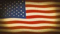 Loop de fundo texturizado de bandeira americana