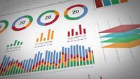 Paquete de diseño de estadísticas comerciales, datos de mercado e infografías