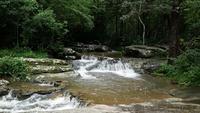 Vackert vattenfall i regnskogen.
