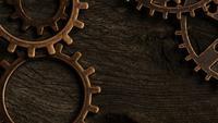 Tournage de séquences d'archives court de cadrans de montres antiques et érodés - VISAGES DE MONTRES 045