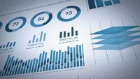 Statistiques sur les entreprises, données de marché et mise en page d'infographies