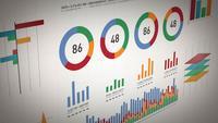 Bedrijfsstatistieken, marktgegevens en infographicslay-out