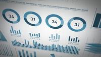 Företagsstatistik, marknadsdata och infografisk layout